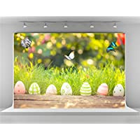 Kate 7x5ft Easter Backdrops for Photography Spring Bokeh Backgrounds Photo Nature Colorful Eggs Backdrop