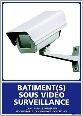 Panneau Plastique rigide PVC Dimensions 210 x 75 mm Double face au dos R/ésidence Sous Vid/éo Surveillance Film de protection UV et anti graffiti