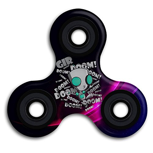 Invader Zim Gir S Doom Song Hand Spinner, Tri Spinner Fidget Toy Stress Reducer Work Fast Low-noise Durable Stable For Chindren And Adults, Anxiety Stress ADD And ADHD Reducer Paient (Invader Zim And Gir Costumes)