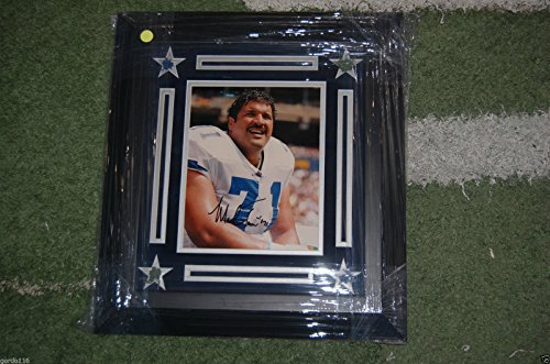 (Dallas Cowboys Texas Stadium Mark Tuinei SB Champ Auto Signed Framed 8x10 Turf)