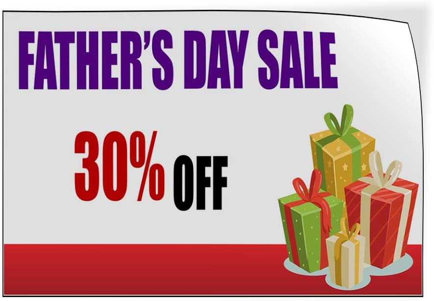 Custom Door Decals Vinyl Stickers Multiple Sizes Fathers Day Sale Percentage Off Holidays and Occasions Fathers Day Sale Outdoor Luggage /& Bumper Stickers for Cars Red 52X34Inches Set of 5