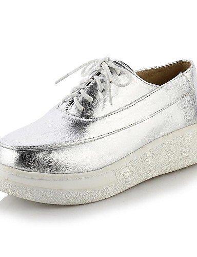 plata Scarpe ZQ sneakers oficina us10 semicuero Hug casual oro eu42 dorato 5 di moda Lavoro mujer 5 cn43 a la 35 creepers EU uk8 plataforma q6rp65vwxY