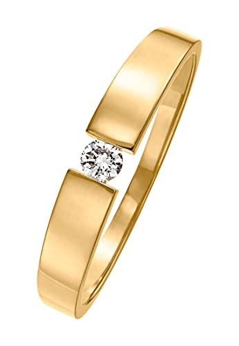 Christ Diamonds Damen Ring 585er Gelbgold Ca 0 08 Karat Gold