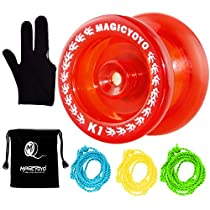 MAGICYOYO Responsive Yoyo K1-Plus Spin Yoyo +3 Strings+Yoyo Sack+Yoyo Glove Gift