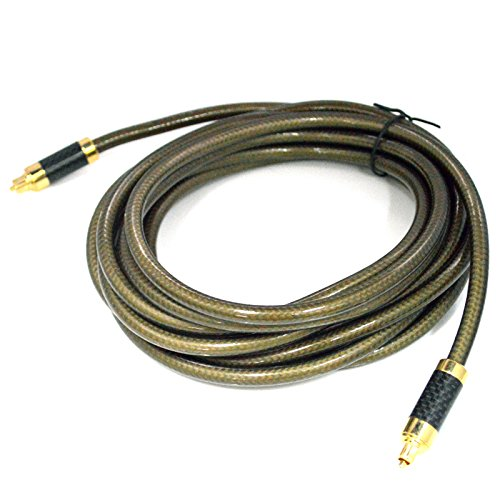 Digital Optical Audio Cable Home Theater Fiber Male to Male with Metal Connectors Gold Nylon Layer Flawless Audio Secure Connection for Sound Bar CD DVD Digital TV Xbox Home Theater Receiver
