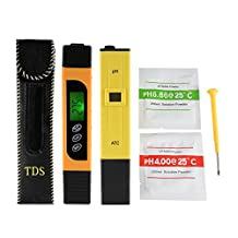 XCSOURCE 3in1 TDS+EC+Temp Meter and Ph Meter with ATC, Digital Accuracy Water Quality Monitor Pen Style Portable Tester BI717