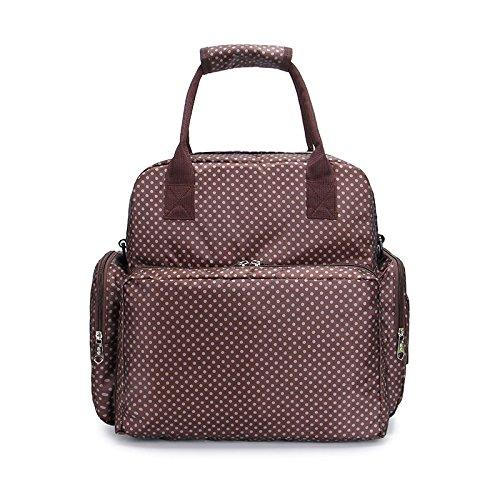 calistous moda bolso de la mamá bolsa de las mujeres embarazadas Mama bolsa multifuncional hombro gran capacidad mochila café