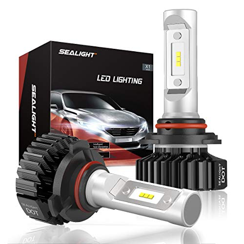 SEALIGHT 9006 LED Headlight Bulbs HB4 Low Beam/Fog Light Bulb, DOT Approved, Super Bright 6000K Cool White Upgraded 12x CSP Chips (Pack of 2)