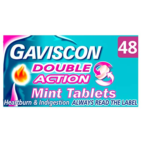 Gaviscon Double Action Mint Chewable Tablets 48pk (Best Cheap Tablet Uk)