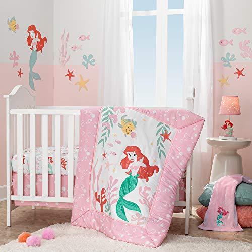 Lambs & Ivy Ariel's Grotto 3Piece Crib Bedding Set, Pink