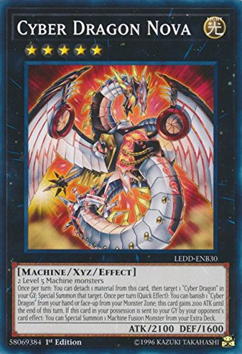 Yugioh 1st Ed Cyber Dragon Nova LEDD-ENB30 Common 1st Edition Legendary Dragon Decks (Nova Dragon)