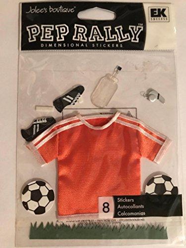 EK Success Pep Rally ORANGE SOCCER Dimensional Stickers OOP $5.99 retail! (Rally Football Pep)
