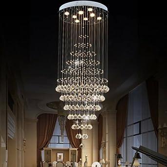 Long Ceiling Light Fixture: LightInTheBox Modern LED Crystal Chandelier Long Lighting Pendant Lights  Ceiling Lamp Fixtures with 8 Lights for,Lighting