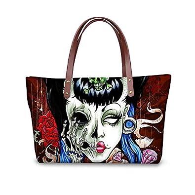 ad236935b041 HITSAN INCORPORATION Fashion Female Shoulder Bag Ladies Crossbody Bags Rose  Skulls Printed Tote Women Handbags Totes