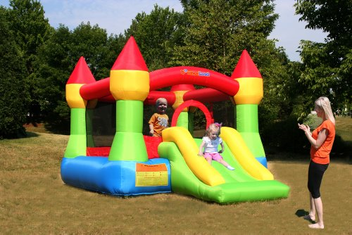 Bounceland Castle W/Hoop Inflatable Bounce House Bouncer