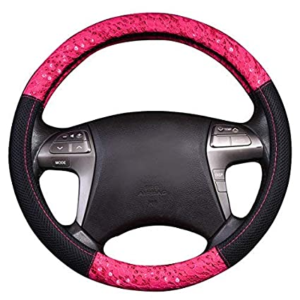 Rose Red color NEW ARRVIAL CAR PASS Delray Spacer Mesh Steering wheel covers universal for vehicles,Suv,