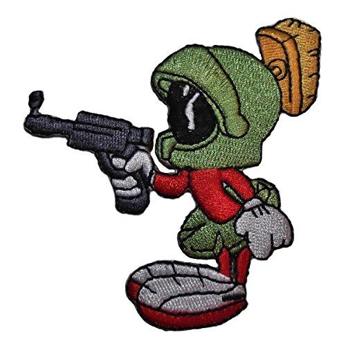 Looney Tunes Marvin Martian With Ray Gun Iron On Patch -