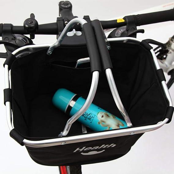 Plegable F/ácil de Instalar para Mujere Cesta para Bicicletas Bicicletas de Monta/ña Cestas Delanteras Accesorios para la Compra Transportador para Perros y Mascotas