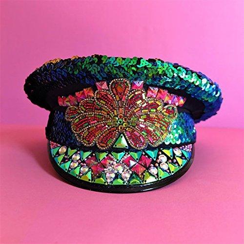5607e4bb7 Amazon.com: Burning Man Hat, Marching Band hat, Captain's Hat ...
