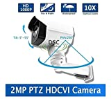 DiySecurityCameraWorld-2MP CMOS HD-CVI MINI PTZ BULLET CAMERA 10X OPTICAL ZOOM 1080P 5.1-5mm LENS IP66, BNC 12VDC