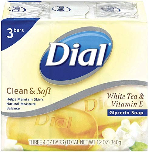 Dial Clean & Soft Glycerin Bar Soap, White Tea & Vitamin E, 4 oz bars, 3 ea (Pack of 10) Bar Soap White Tea