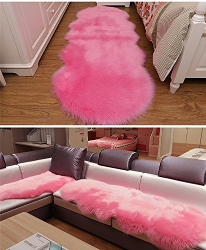Meng Ge Top Quality Faux Sheepskin Rug Sofa Couch Stool Casper Vanity Chair Cover Seat Pad Plain Area Rugs Living Bedroom Floor