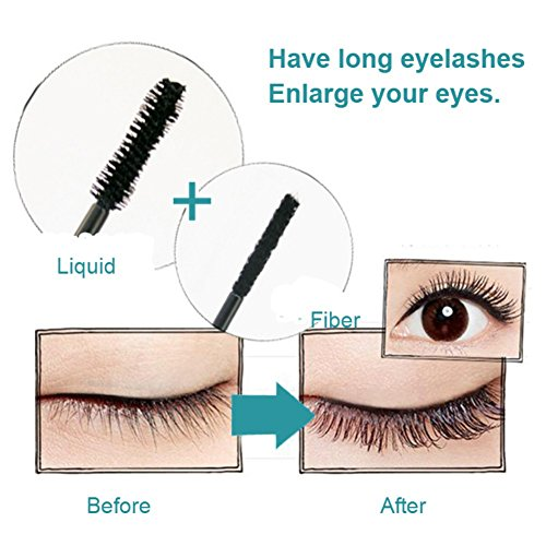 DIDICAT 4D Mascara, Taykoo Lash Makeup Waterproof Mascara Eye Black Eyelash Extension Washable Mascara