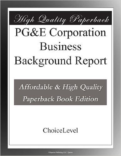 Book PGandE Corporation Business Background Report