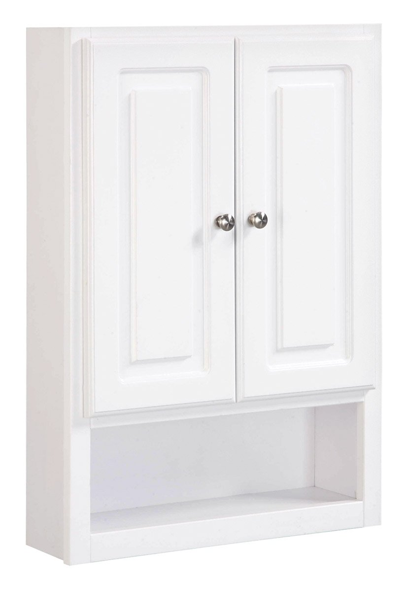 Amazoncom Design House 531319 30Inch By 21Inch Concord  ReadyToAssemble 2 Door With Shelf Wall Bathroom Cabinet White Home Improvement White Gloss Cabinet E33