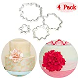 (Set of 4)The Easiest Peony Petals Ever Cookie Cutter Set,4 Size,for CapCake Decorating Gumpaste Flowers Fondant Mould