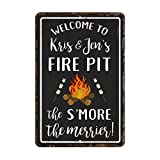 Personalized Vintage Distressed Look Fire Pit S'more the Merrier...