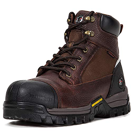 ROCKROOSTER Men's Work Boots, Composite Toe, Waterproof Resistant, Kevlar Puncture, Safety Shoes, EEE-Wide (AT872, US 11.5)