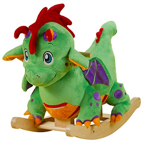 Plush Stuffed  Dragon Rocker Ride on Toy  Made in America For Children 9 months and up
