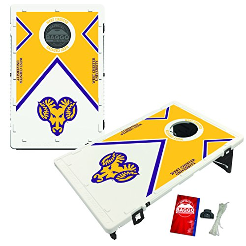 West Chester University Golden Rams Baggo Bean Bag Toss Cornhole Game Vintage Design by Victory Tailgate