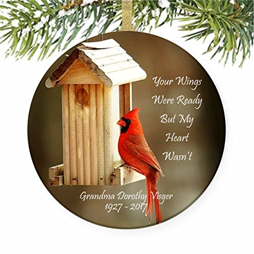 Cardinal Memorial Christmas Tree Ornament (Ornaments Memorial Christmas Personalize)