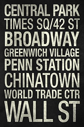 Subway Stations New York City Black and White Art Print Poster