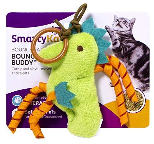 Bungee Toy (SmartyKat Bouncin' Buddies Refillable Bungee Catnip Toy)