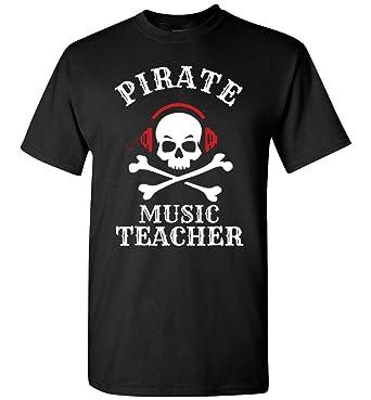 Pirate Music Teacher Halloween T-Shirt, Gift Idea Adult and