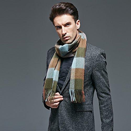 Men pure cashmere scarf scarf warm thickening by KYXXLD