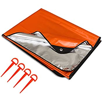 Amazon utool all weather thermal emergency survival blanket thermal survival blanket 40 outdoor mylar tarp with grommet all weather emergency blanket for hiking hunting camping durable waterproof heavy duty reusable publicscrutiny Gallery