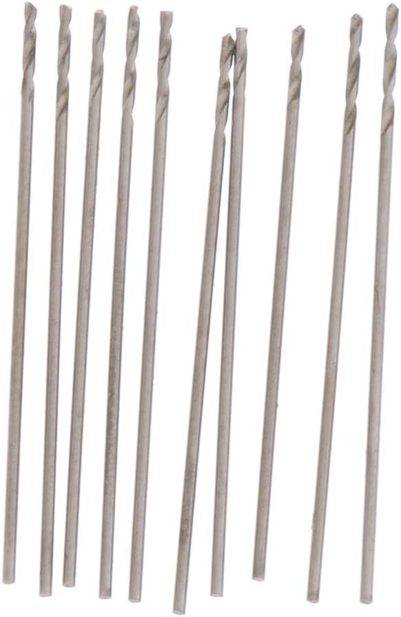 0,7 mm Silber 0,8 mm 0,8 mm 10 St/ück M35 HSS Spiralbohrer 0,9 mm langlebig Metallbohrer Set Gr/ö/ße : 0,5 mm abriebfest