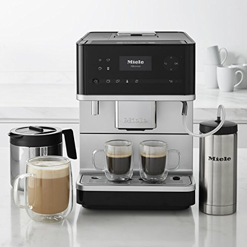 Miele CM6350 Countertop Coffee Machine, Obsidian Black by Miele