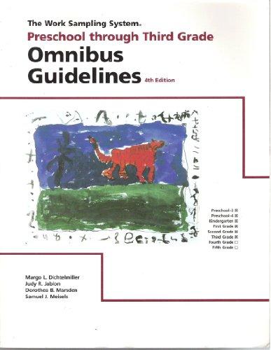 Omnibus Guidelines Preschool Through Third Grade (The...
