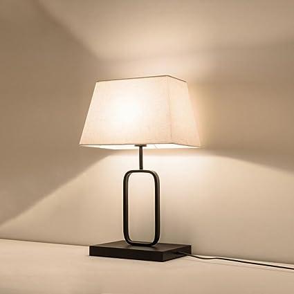 Lámparas de escritorio WYQLZ Retro Hotel Living Room Iron ...