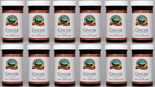 Naturessunshine Ginger Digestive System Support Herbal Dietary Supplement 500 mg 100 Capsules (Pack of 12) by Nature's Sunshine