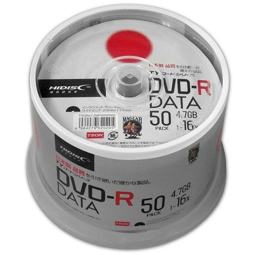 【TYコードシリーズ】HI-DISC データ用DVD-R 4.7GB 16倍速対応 ワイドプリンタブル白 50枚スピンドルケース×12個 TYDR47JNP50SPMG【600枚セット】 B06W9F7L8N  【600枚セット】