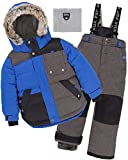 Deux par Deux Boys' 2-Piece Snowsuit Since 1986 Charcoal, Sizes 5-14 - 14
