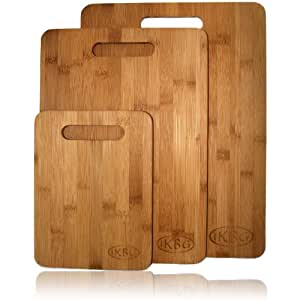Bamboo Cutting Board Set – 3 Piece All In One Pack – Strong and Durable Hard Wood That Is Kind To Your Knives – Eco Friendly And Bio Degradable Boards – The Best Investment You Can Make For Your Kitchen – 100% Replacement Guarantee