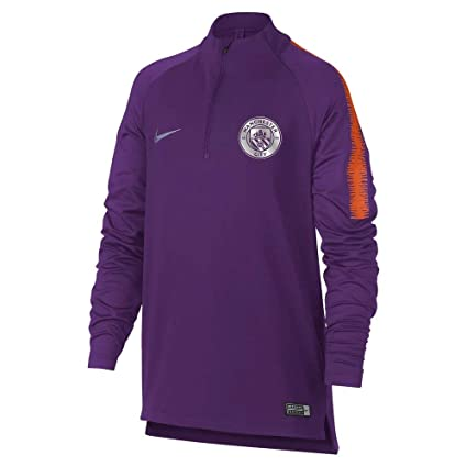 247e041d Image Unavailable. Image not available for. Color: NIKE 2018-2019 Man City  Squad Drill Training Top (Purple) - Kids