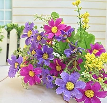 Light Pink Color Silk Flowers Artificial Silk Daisy Flower Bunch